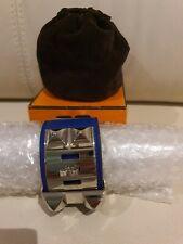 Authentic Hermes CDC Blue Swift Leather Collier de Chien  PHW Bracelet