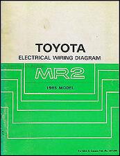 1985 Toyota MR2 Electrical Wiring Diagram Manual Schematic Book 85