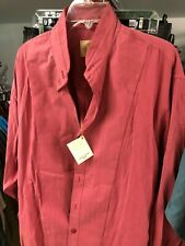 6f3c2747 Stubbs Western Wear Cowboy Long Sleeve Shirt NO BUTTONS Size XL ROSE / PINK