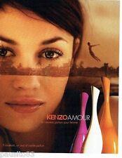 PUBLICITE ADVERTISING 126  2006   parfum femme Amour par Kenzo