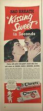 New ListingClorets Gum Mints Candy Magazine Print Ad Vintage Food Snacks Original 1952