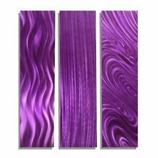 Modern Purple Art Abstract Metal Wall Decor - Purple Trilogy by Jon Allen