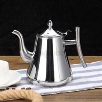 2L 10 Cups Coffee Tea Maker Teapot Percolator Pot Kettle Filter Stainless