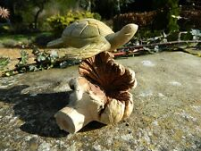 Wooden Tortoise Carving - Hand Carved Turtle Terrapin on Parasite Wood