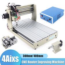 400w 4 Axis Engraver Cnc 3040 Router Desktop Milling Engraving Machine Rc