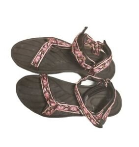Women's Size 10 Teva Pretty Rugged Sandals - Pink Roses 6455