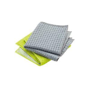 KitchenCraft 2 in 1 Dish Cloth with Non Scratch Scourer Backing - 2 Pack