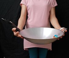 "1x Pan Wok 14"" Thai China Style Fry Chef Cookware Kitchen Tools Fried Asian Food"