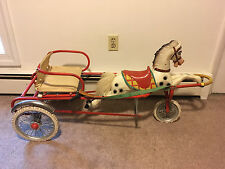 Rare Vintage Horse Ride-on Pedal Cart Peddle Car Gumont Bologna Italy Works Well