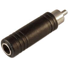 "6.35 mm 1/4"" Mono Femelle Jack Socket to Single RCA Phono Plug Adaptateur"