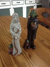 """Vintage spooky Halloween Dracula and the Grim Reaper 8"""" Candles"""