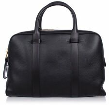 Tom Ford Leather Carry-on Briefcase Bag Gold & Black Leather