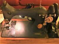 Vtg Antique 1950s Singer Sewing Machine Original Wood Cover Attachment Working