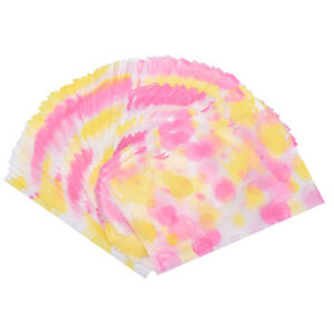 100x Fashion Multicolour dot Cookies Packaging Bag Cellophane Flat Pastry Bags√