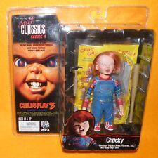 """2006 NECA REEL TOYS Cult Classics Series 4 juego de niños 3 Moc Chucky 5"""" figura"""