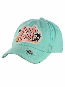 Ceci® Womens Baseball Cap Distressed Vintage Unconstructed Embroidered Dad Hat