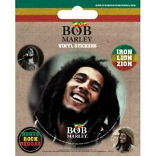 Bob Marley 5 pack Vinyl Sticker pegatina vinilo 7.5 cm diametro