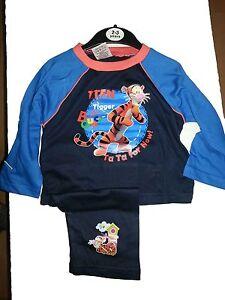 "Boys Disney Tigger ""Lets Bounce"" Kids Pyjamas  Sizes 2-3  3-4 5-6 7-8 Years"
