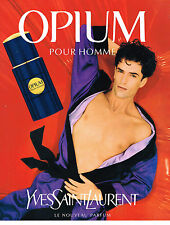 PUBLICITE ADVERTISING 034   1995   YVES SAINT LAURENT parfum OPIUM pour homme