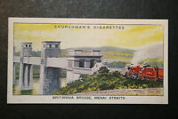 Britannia Bridge  Menai Straights  LMS  North Wales  1930's Vintage Card VGC