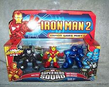 SUPER HERO SQUAD MARVEL IRON MAN 2 ARMOR WARS PART I SET