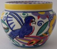 Stunning Early Poole Pottery QB Comical Bird Vase By Truda Carter - Art Deco
