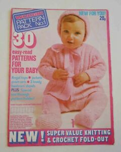 Vintage Knitting Book - Woman Pattern Pack No.1 - Baby Patterns, 1970s