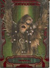 Star Wars Masterwork 2016 Alien ID Guide Wood Chase Card AI-2