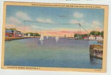 1950 Postmarked Postcard Port of Richmond Charlotte Harbor New York NY