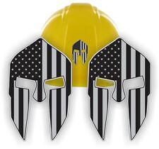 American Flag SPARTAN HELMET Hard Hat Stickers   Black Ops Motorcycle Welder