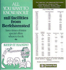 Leighton Buzzard Berkhamsted London Euston Station LMR 1980 peak hour timetables