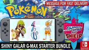 Pokemon Sword & Shield Shiny 6IV + HA Cinderace, Inteleon, Rillaboom!!
