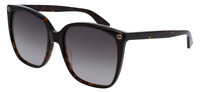 *NEW AUTHENTIC* GUCCI GG0022S 003 AVANA FRAME, BROWN GRADIENT LENS, SIZE 57mm