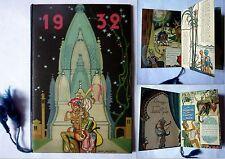 calendarietto 1932 LANA POLO ill NINO PAGOTTO, LA LEGGENDA DE L'UOMO FELICE