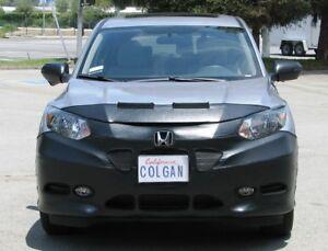 Colgan Front End Mask Bra 2pc.Fits Honda HR-V LX,EX,EX-L 2016-2018 w/License