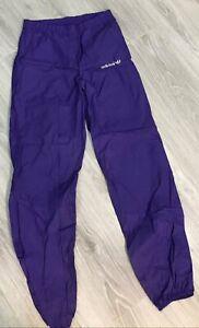 90s 80s Vintage Mens ADIDAS ORIGINALS Tracksuit Jogger Pants Purple Nylon Size M