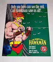 Rare vintage original 1984 Hawkman 22x16 DC Comic promotional promo poster 1:JLA