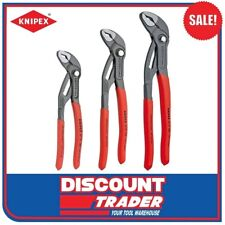 "Knipex 3 Piece Adjustable Cobra Multi-Grips (Pliers) Set 7"" 10"" 12"" 002009V02"