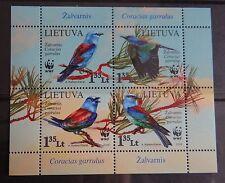 stamps of Lithuania 2008 - WWF Birds - full set Lituania Lituanie Litauen MNH