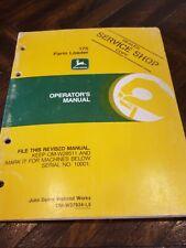 John Deere Manual Used 175 Farm Loader Omw37924l5 820 830 2020 2030 1840 2130