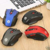2400DPI 2.4Ghz Wireless Optical Gaming Mouse Mice & USB Receiver For PC Laptop