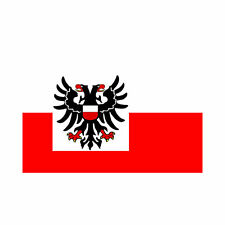 Fahne Lübeck Flagge ca. 90 x 150 cm - Stadtflagge