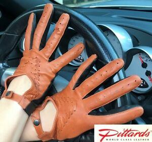 !BRAND NEW! Two Colored Driving Leather Gloves with Handmade Detail! BRAND NEW!
