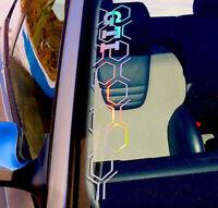 GTI Aufkleber Frontscheibenaufkleber Rauten Muster Logo  MK Sticker Auto-Tuning