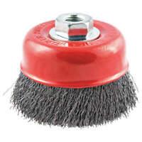 "NORTON 66252839121 Crimped Wire Cup Brush,1-1/8"" L Trim"
