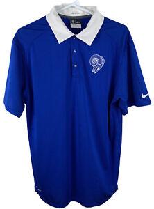 Nike Official Dri-Fit On Field NFL St. Louis Rams Mike Murphy Polo Shirt Men L