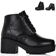 Unbranded Ankle Lace Up Synthetic Leather Women's Boots