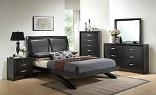 Crown Mark B4380 Black Wood Bedroom Furniture Set