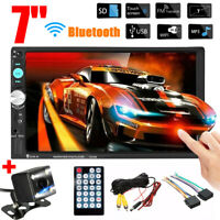 7'' HD Double 2DIN Car MP5 Player bluetooth Touch Screen Stereo FM Radio +Camera