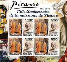 PABLO PICASSO Artist & Painter / Abstract Art Stamp Sheet #2 of 5 (2011 Burundi)
